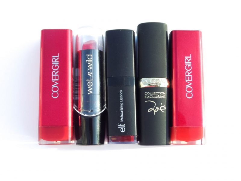 Top 5 Favorite Must-Have Drugstore Red lipsticks!