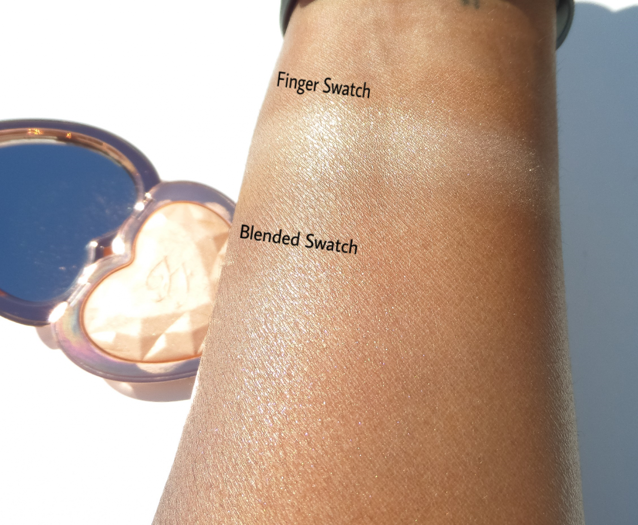 Too Faced Ray Of Light Swatches Nubelease