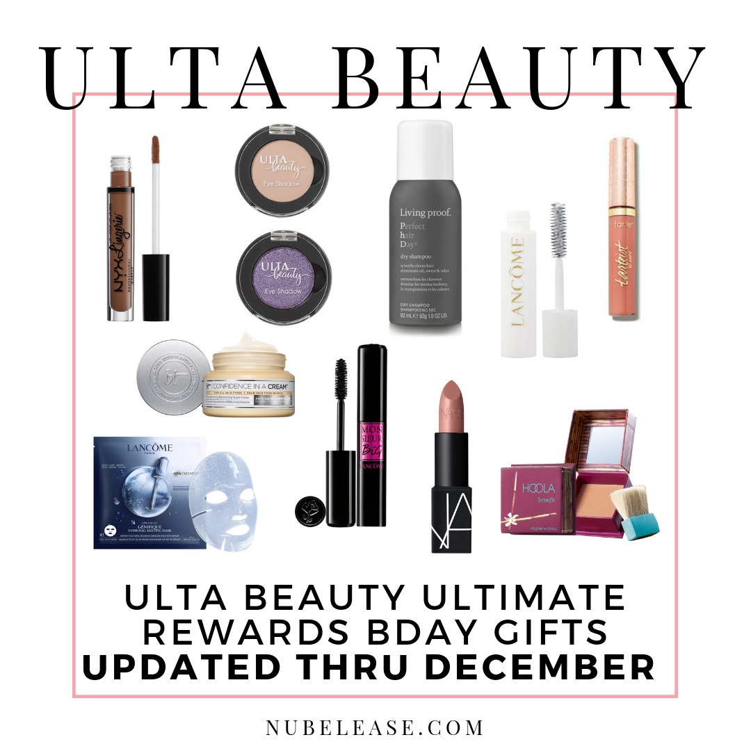 Ulta Beauty Birthday Gift 2019 by Month